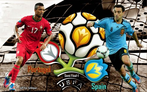 منتخب اسبانيا ينتزع بطاقة التآهل للنهائي آمام منتخب البرتغال