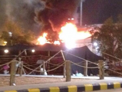 """الجنادرية : إصابة 11 شخصاً في حريق خيمة """"الزراعة"""""""