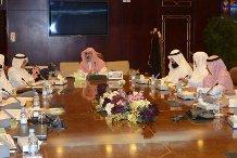 مدير جامعة الإمام يرأس الاجتماع لمؤتمر الحوار وأثره في الدفاع عن النبي صلى الله عليه وسلم