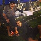 صورة مثيرة للنجم المصري زيدان مع العملاق مارادونا