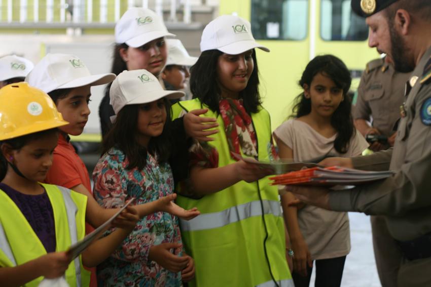 أطفال نادي السلامة يزورون «مدني» الجبيل