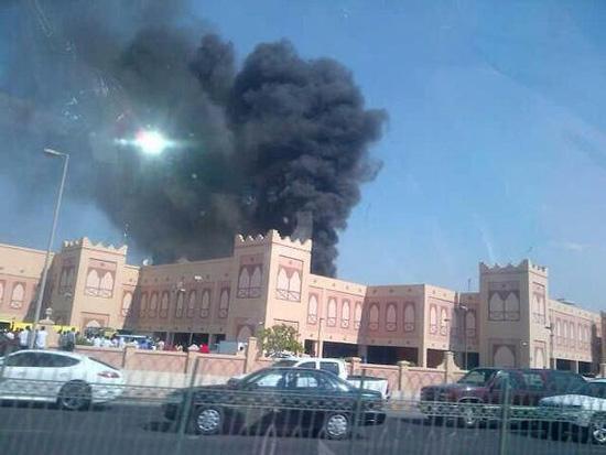 لا اصابات للسعوديين في حريق مجمع المنامة